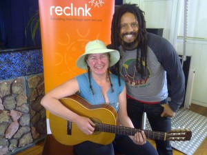 Amanda Kay and Rohan Marley after having a jam