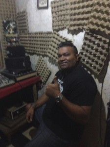 Jacinto, the multi skilled musician who plays double bass on some of the tracks recorded in Habana, Cuba